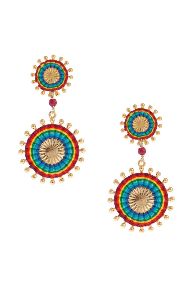 Artisun Double Rainbow Sunburst Earrings