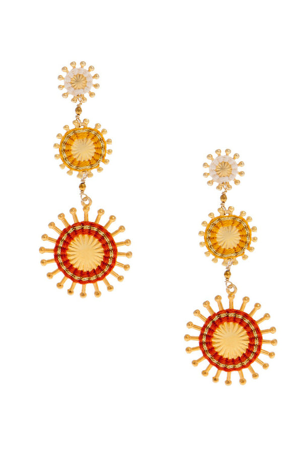 Artisun Triple Terracotta Sunburst Earrings