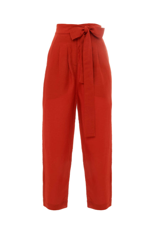 Burnt Red Cigarette Trouser