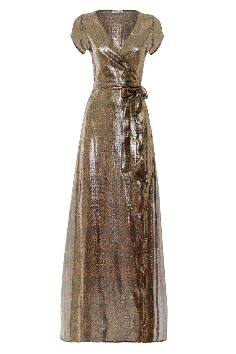 Cassiopeia Silk Maxi Wrap Dress