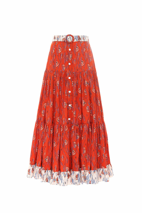 Efterpe Button Maxi Skirt