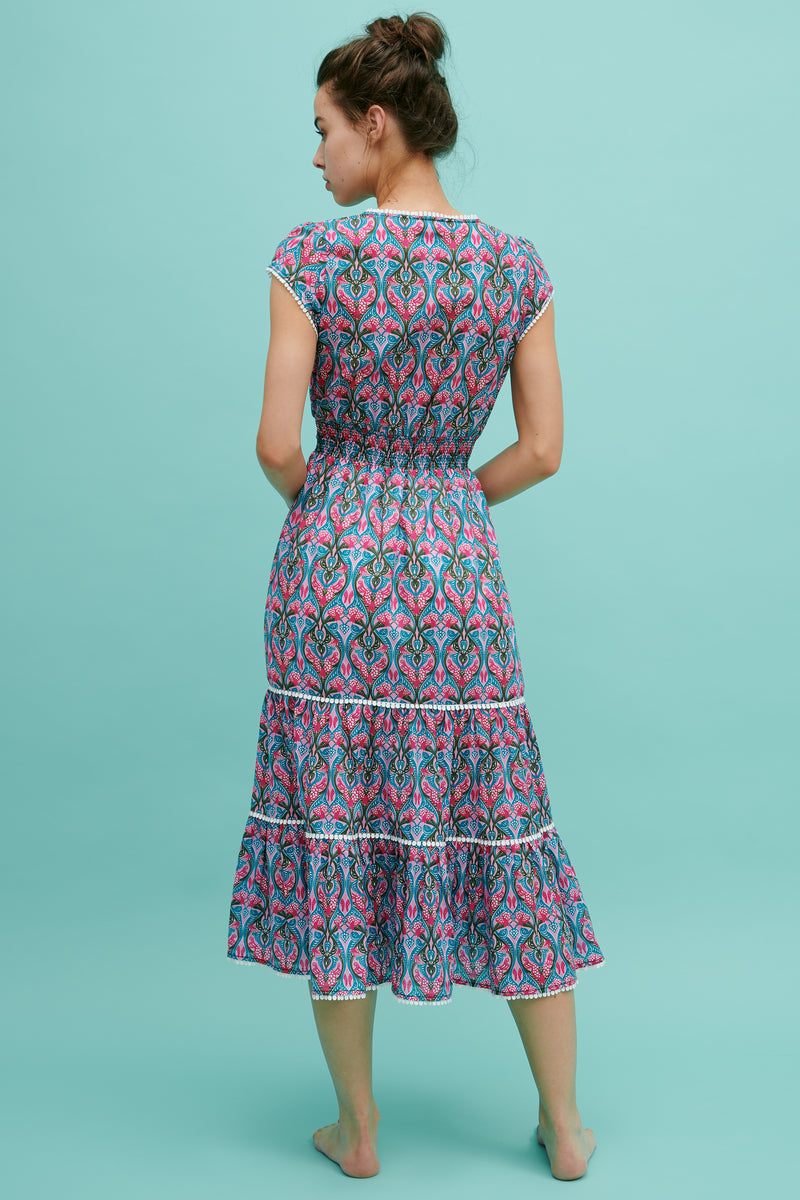 Lyra Ruffle Midi Dress
