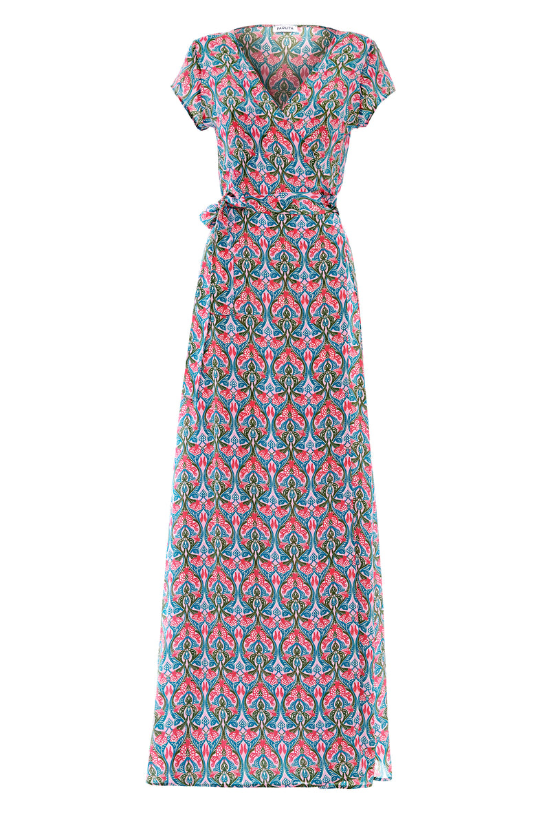 Lyra Silk Maxi Wrap Dress