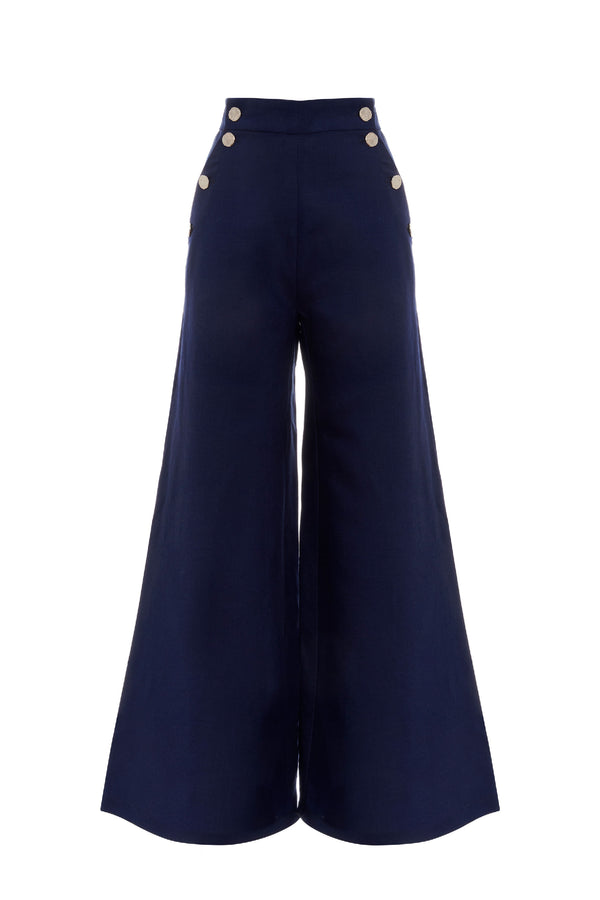 Navy Nautical Trouser