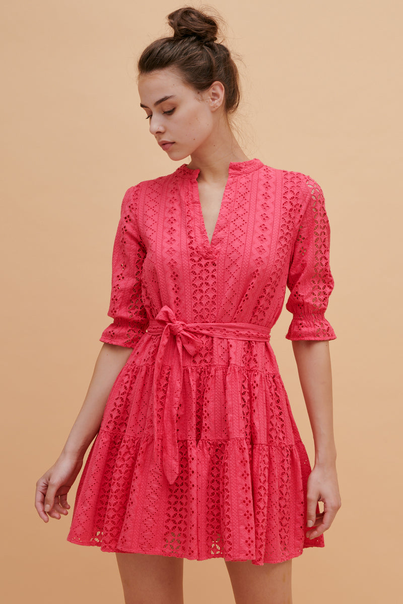 Tulip Long Sleeve Ruffle Dress
