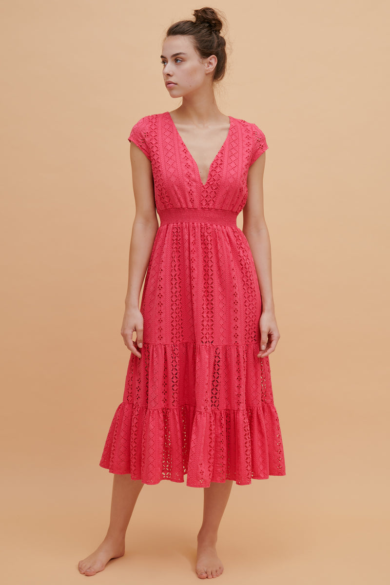 Tulip Ruffle Midi Dress