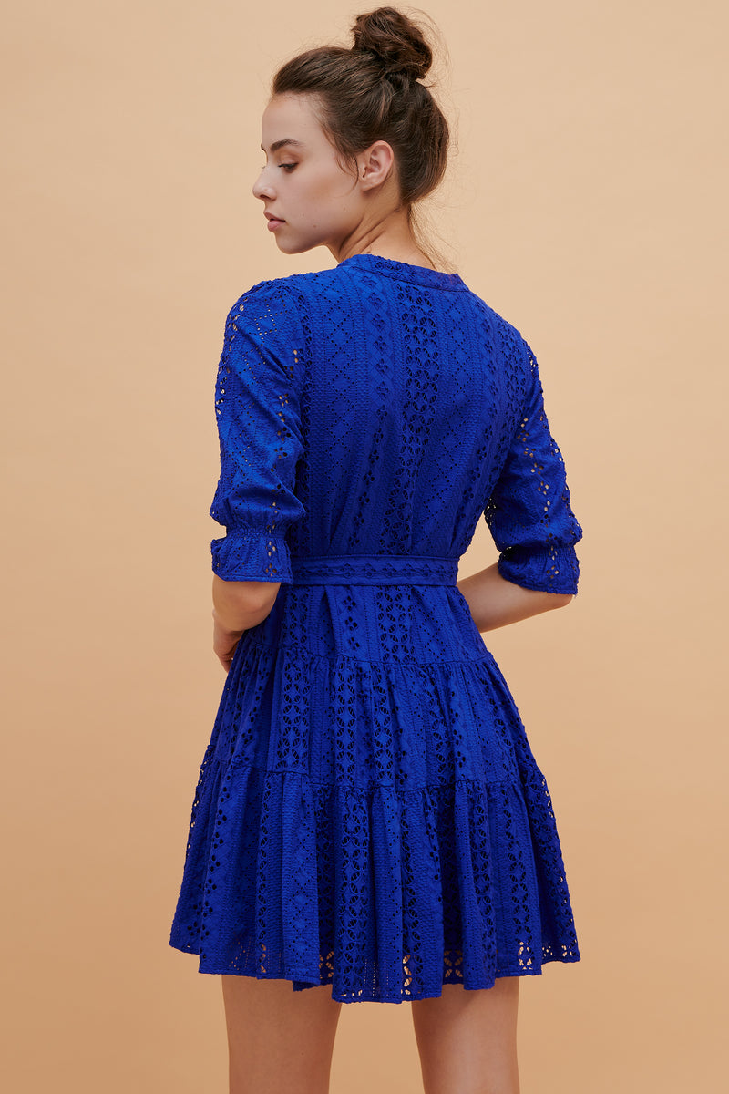 Virgo Long Sleeve Ruffle Dress