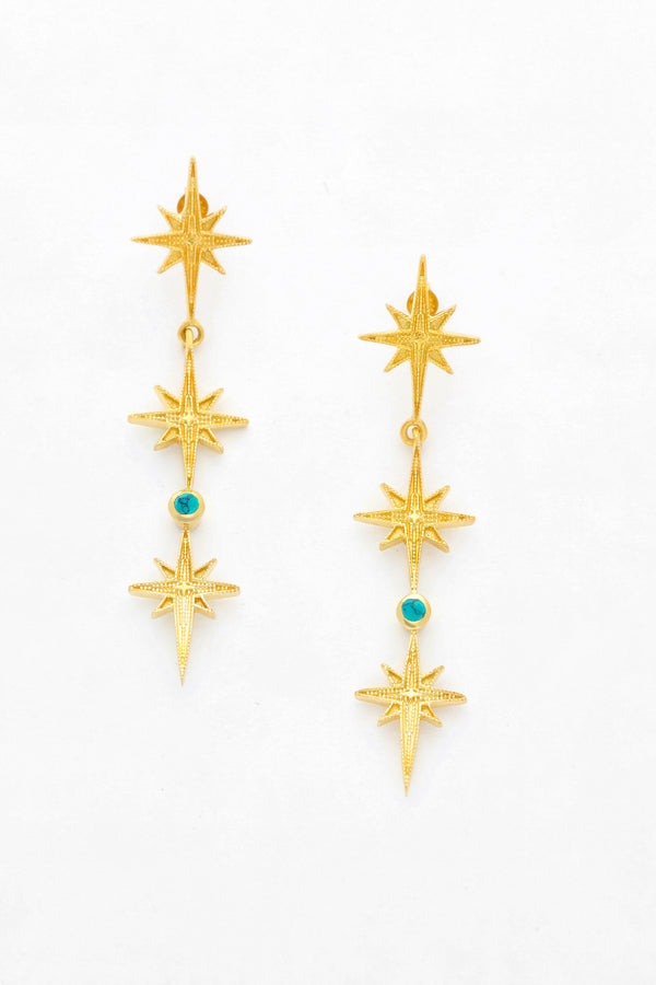 Wolf & Gypsy Tripple Star Earrings