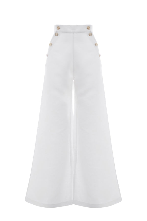 White Nautical Trouser
