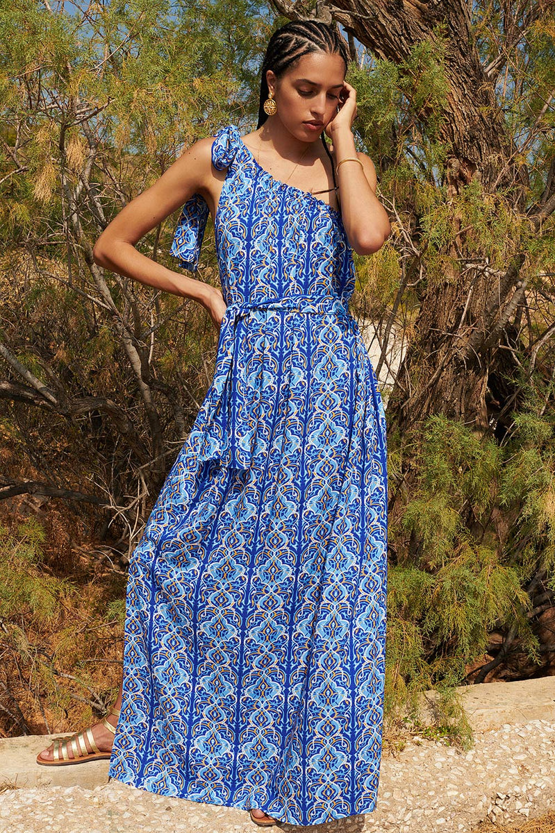 Arabian Nights One Shoulder Maxi Dress