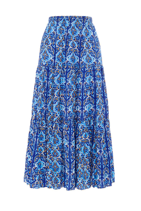 Arabian Nights Ruffle Midi Skirt