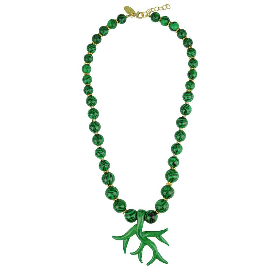Katerina Psoma Murano Necklace Malachite