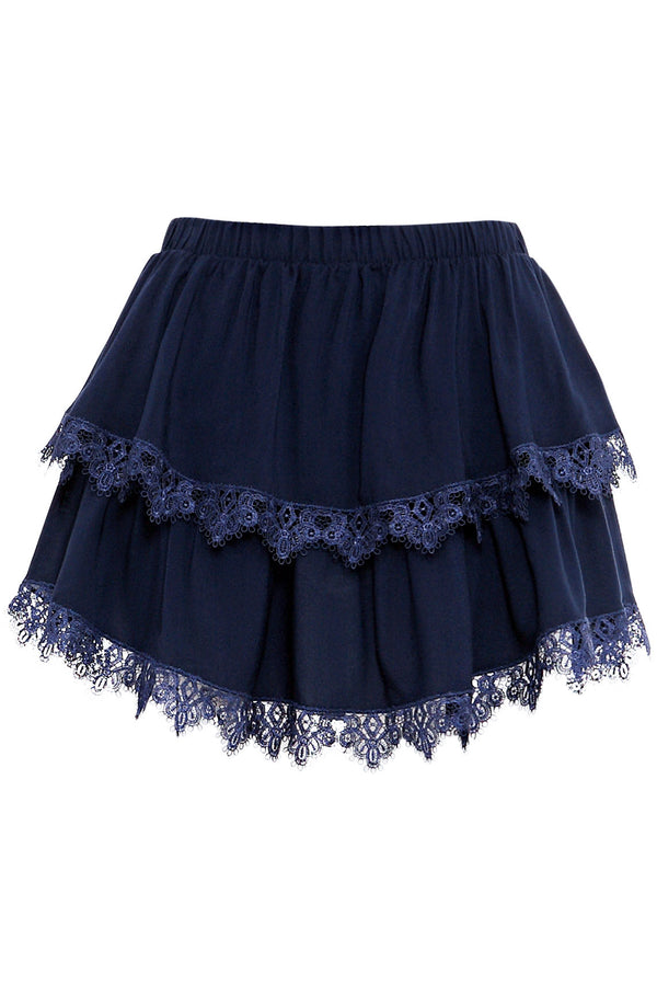 Navy Short Skirt