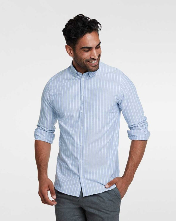 Casual shirt blue milk-stripe - LABFRESH