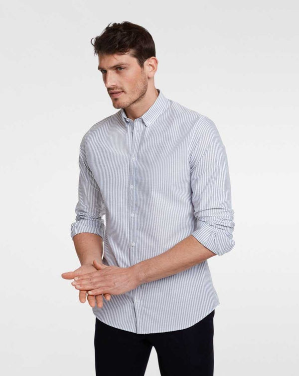 Casual shirt navy stripe - LABFRESH