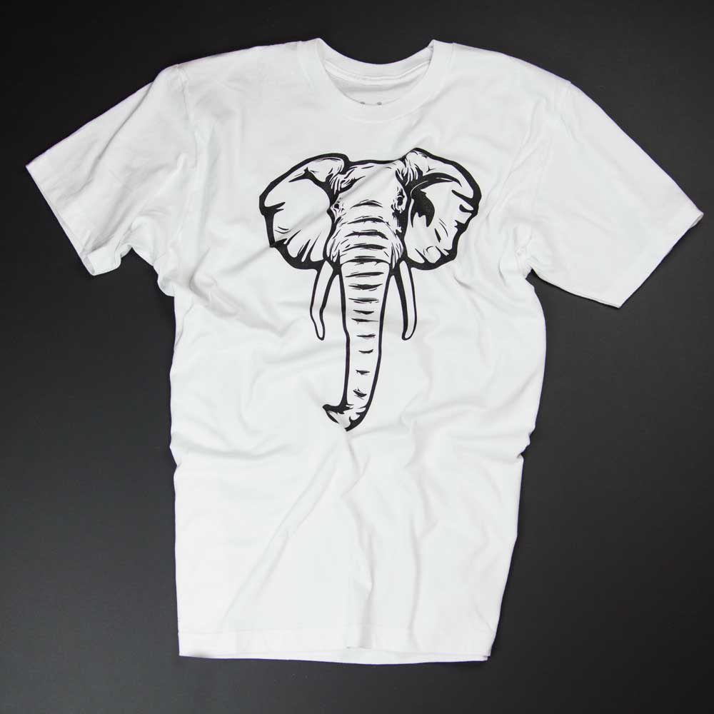 Elefant - weisses Shirt