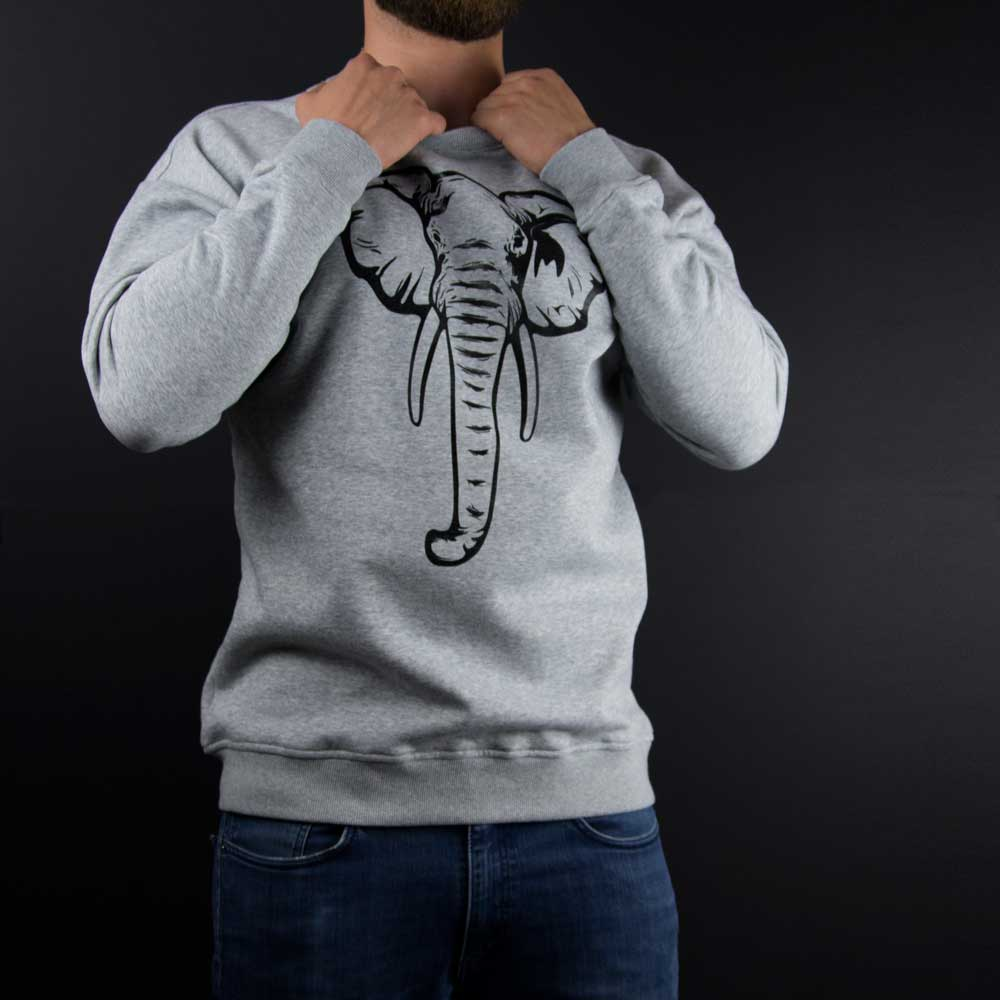 Elefant - hellgrauer Sweater