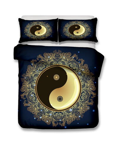 3D Bedding Set Yin Yang Print Duvet cover set with pillowcase | http://chicboutique.com.au