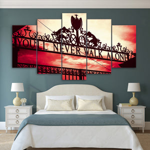 5 panel canvas You Will Never Walk Alone Painting Wall Art