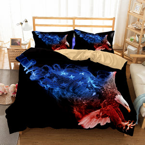 3D Bedding Set Eagle Print Duvet cover set lifelike with pillowcase bed set