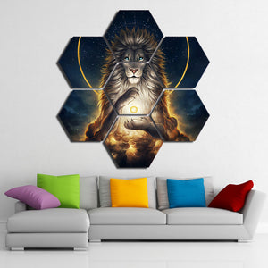 Soul keeper 7 piece Lion painting Wall Art Canvas | http://chicboutique.com.au
