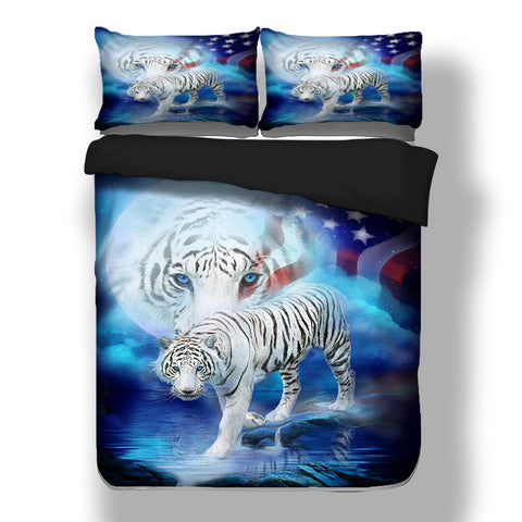 Tiger Bedding Set Animal Duvet Cover with Pillow Case 3D Bed Linen