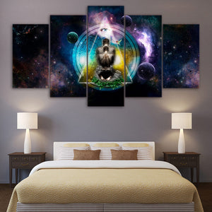5 Piece Canvas Print Wall Art Abstract Painting Home Decor | http://chicboutique.com.au