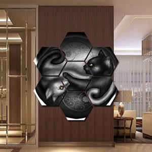 Yin-yang Canvas painting Wall art 7 panel home decor | http://chicboutique.com.au