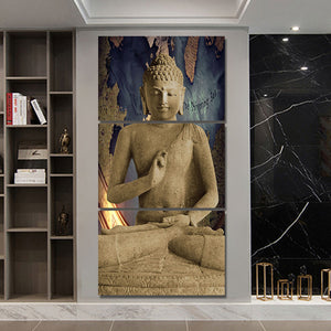 3 piece canvas art Abstract Buddha wall art home decoration | http://chicboutique.com.au
