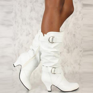 Mid Calf Buckle detail Small and Large Size Boots