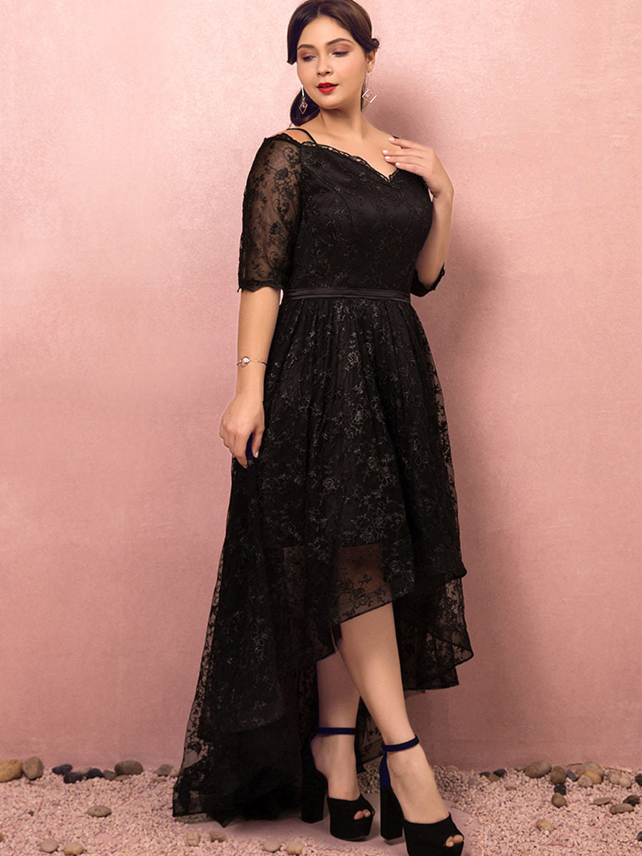 Evening Plus Size Short Front Long Back Dress