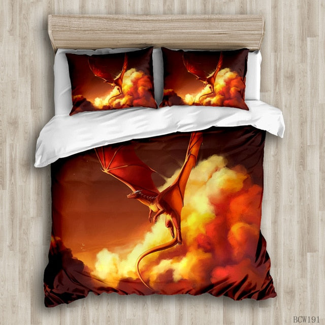 Luxury Dragon duvet cover bedding set