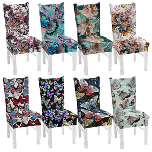 Butterfly Print Dining Chair Cover