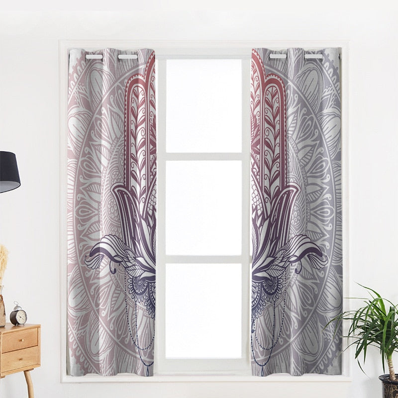 Mandala Lotus Modern Luxury Window Curtains