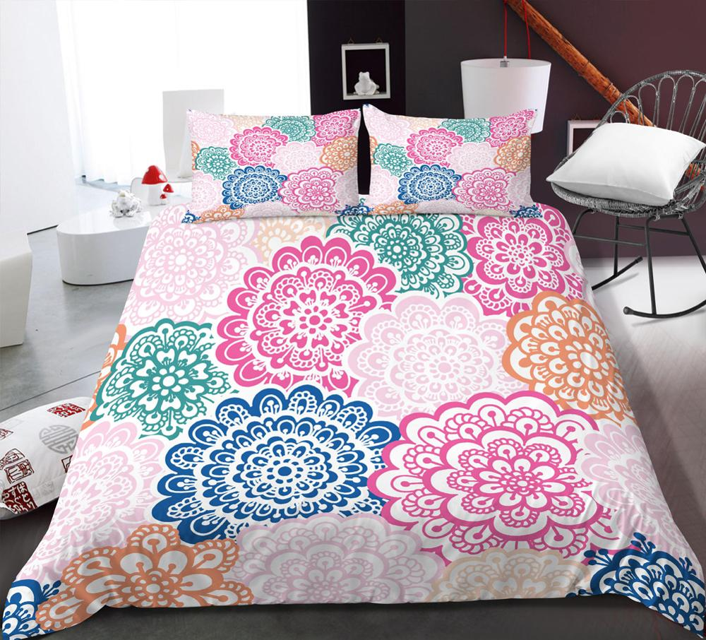 Bohemian Flower Duvet Cover Set