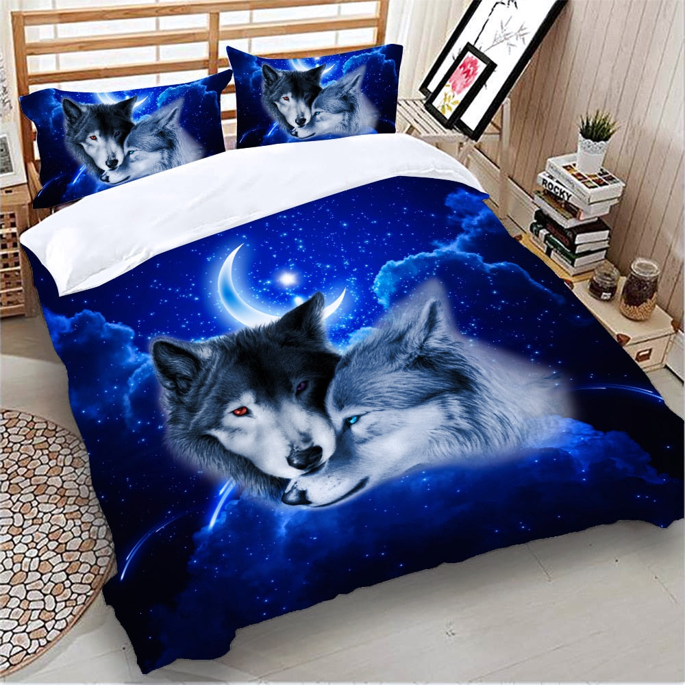 Night wolves Duvet Cover Set