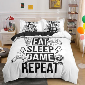 Game Print Bedding Set