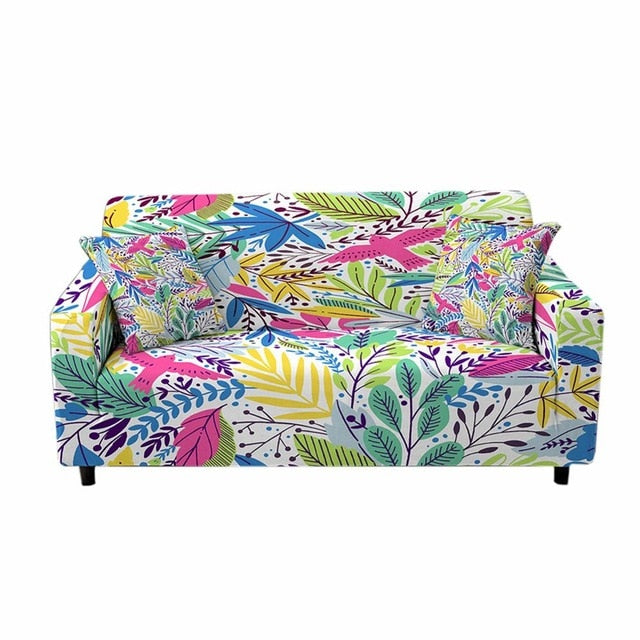 Tropical Leaf Elastic Sofa / Couch Cover