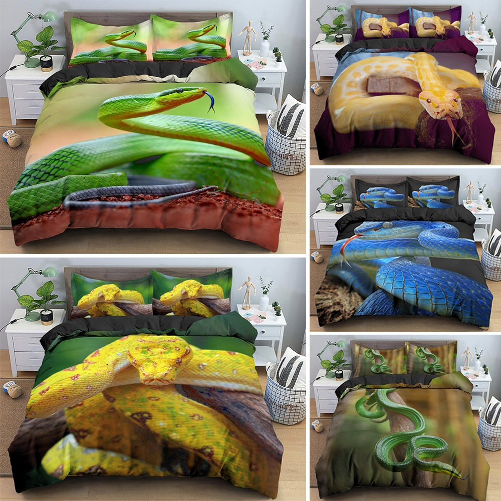 Snake Print Bedding Set 7 Assorted Prints Available