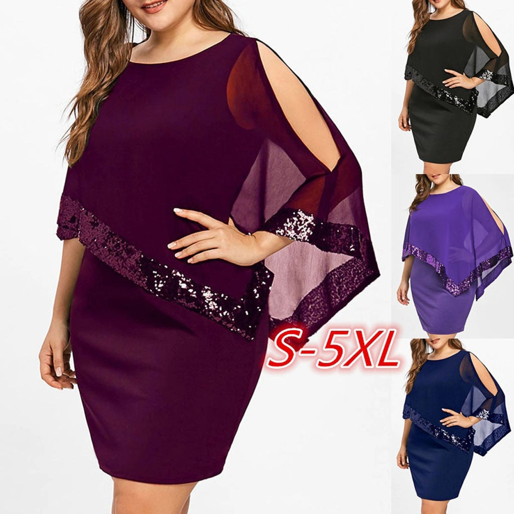 Chiffon Sequinned Body-con Dress