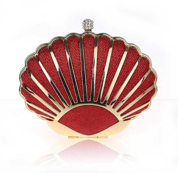Stunning Sea Shell Shaped Clutch | http://chicboutique.com.au