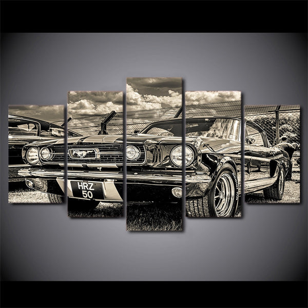 Canvas Print Wall Art 5 Piece 1965 Ford Mustang