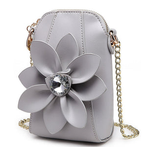 Mini Bag With Large Flower Chain Rhinestone Shoulder Bag Messenger Bag Tote - http://chicboutique.com.au