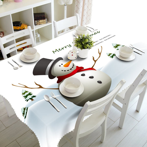 3D Table cloth Christmas Print Rectangular Home Textiles