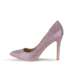 Sequin Crystal Embellished Pointed Toe High Heel Stiletto Pumps | http://chicboutique.com.au