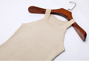 Slim Halter Camisole Body-con Knitted Sleeveless top | http://chicboutique.com.au