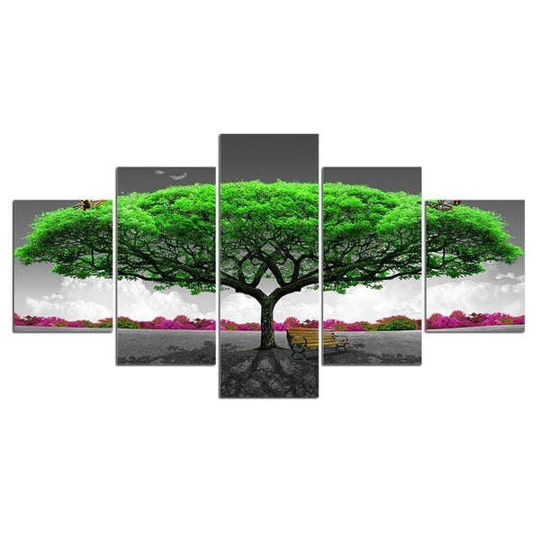 5 panel canvas art tree scenery large wall Art
