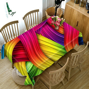 Rainbow 3D rectangular tablecloth Home Decoration | http://chicboutique.com.au