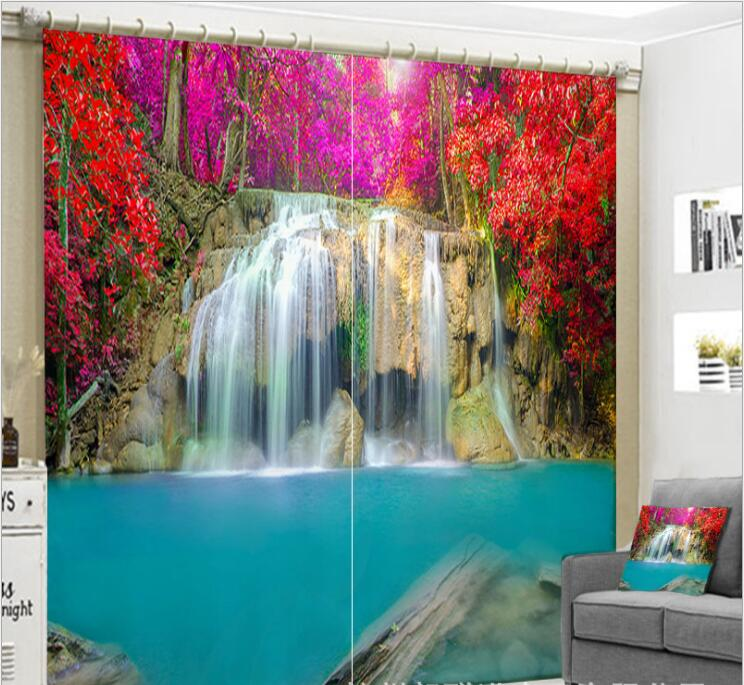 Luxurious Waterfall 3D Blackout Curtains   accessories included | http://chicboutique.com.au