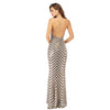 Maxi Sequinned long elegant body-con dress